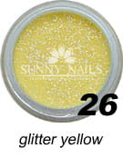 26 Akryl w proszku Sunny Nails glitter yellow 3 ml