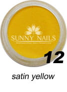 12 Akryl w proszku Sunny Nails satin yellow 3 ml